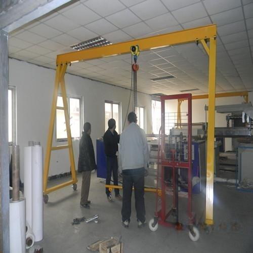 移動龍門架 門式起重機簡易手推龍門吊