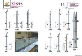 304不锈钢玻璃栏杆立柱