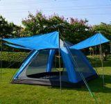 自动帐篷 棕榈滩野营帐篷韩版 3-4人全自动帐篷 防紫外线