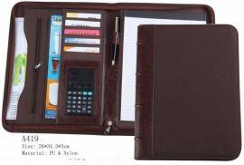 珀非皮具 万用文件夹 多功能文件夹 PU文件夹 带纸张 带计算器
