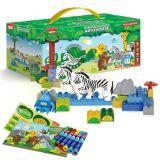 欢乐客 早教儿童益智玩具五合一小套装马拼插玩具
