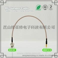 BNC08-MMCX10BNC(Plug)  公针 to MMCX(Jack)母头母针直式铆压接RG316_RG174同轴电缆/50Ω
