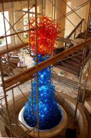 昆明蜀湘坊案例:大堂大型玻璃雕塑