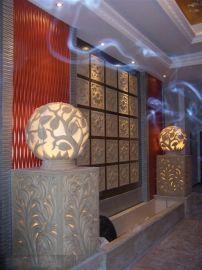 人造石景观灯笼 厂家直销砂岩灯饰 砂岩雕花透光灯