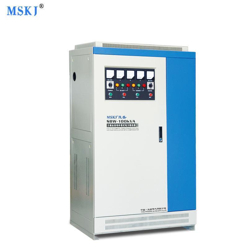工厂直销100KW/100KVASBW稳压器三相大功率全自动输出380V电源