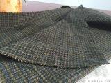 暗色格子粗纺羊毛面料