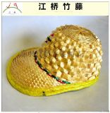 江桥竹藤生态装饰工艺品厂家专业定做民间特色竹编帽子 外贸出口遮阳帽子