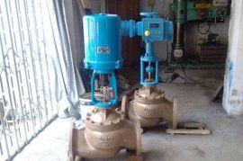 ZDLP型電子式電動蒸汽 水單座調節閥 DN150 DN200不銹鋼碳鋼閥門