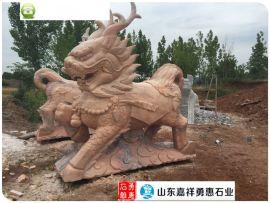 石雕麒麟制作厂家、石雕貔貅、石雕狮子、石雕动物雕塑
