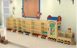 幼儿玩具柜,火车造型玩具柜,幼儿书柜
