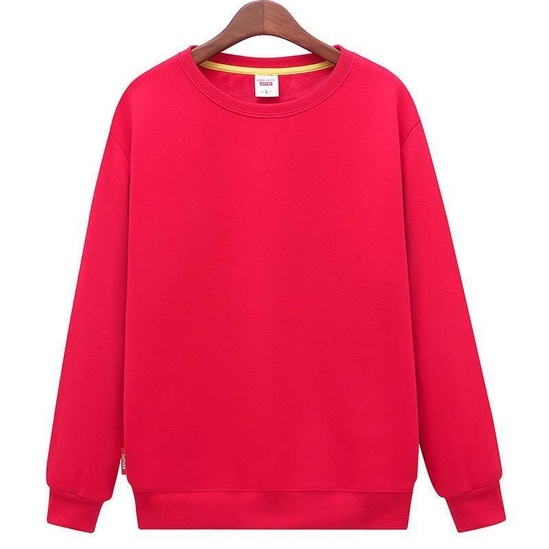 秋裝定製套頭衫學生聚會班服工作服定做毛圈純棉衛衣長袖印logo