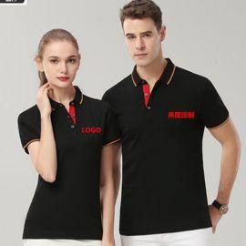 短袖T恤POLO衫男女情侶裝夏季新款商務休閒上衣企業團體logo定制