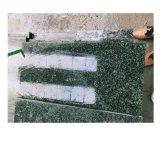 销售森林绿花岗岩万年青烧面光面深绿麻石材订做异形工程板