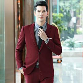 2020新款西装男西服套装定制韩版修身男装外套男士礼服套装三件套