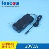 30V2A灯具电源适配器、PF值>0.9 GB19510/EN61347标准 过谐波测试