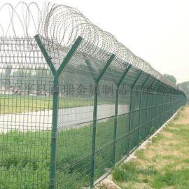 飞机场护栏-机场防护栅栏-刺绳机场护栏