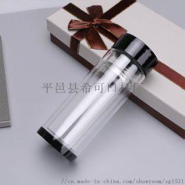 厂家批发定制双层玻璃别广告杯礼品杯印字印logo