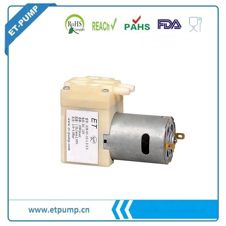 ET A38 Series,微型隔膜水泵,直流自吸水式水泵,低压直流供电