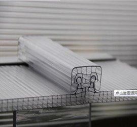 隔热PC阳光板 中空板 米字型阳光板 上海米字型结构阳光板玻璃钢采光板 采光瓦