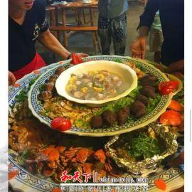 海鲜大排档盘子 陶瓷大盘定做 大餐盘 大陶瓷餐盘厂家