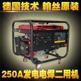 250A汽油驱动便携式发电焊机
