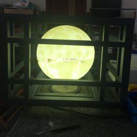 球形柱头灯 外加框架仿云石石柱灯 小区门口亮化照明云石灯 落地灯厂家直销