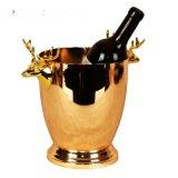 歐式金色不鏽鋼冰桶香檳桶紅酒啤酒冰塊桶KTV酒吧用具裝冰塊的桶
