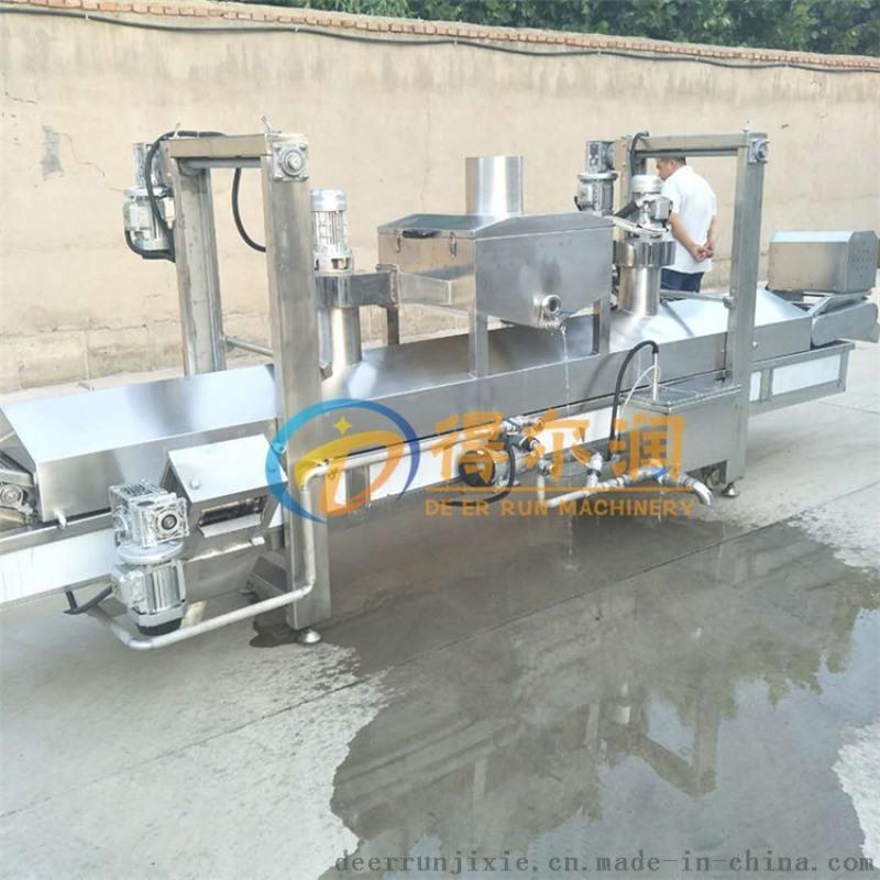DR300膨化山药脆片油炸机 不锈钢成套油炸生产线