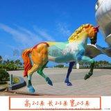 玻璃钢雕塑仿真动物雕塑,马雕塑景区公园树脂摆件