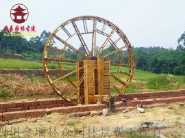 成都景观水车、防腐木水车设计定制厂家