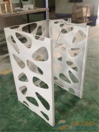 小区改造镂空冲孔户外铝合金空调罩