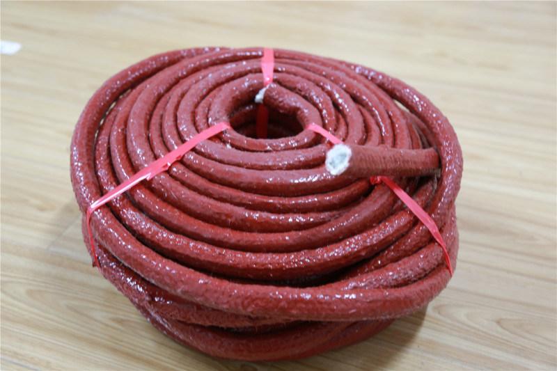 供应安徽地区耐高温玻纤绳 硅胶涂覆纤维绳