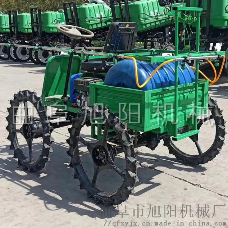 热销四驱四轮打药机自走式喷杆喷雾机汽油动力打药机