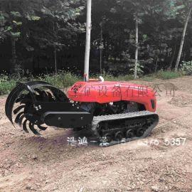 浩鸿履带式微耕机电动果园管理机自行旋耕机