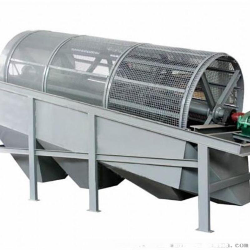小型筛沙机 全自动竹粉转筒筛 生活垃圾滚筒筛分机
