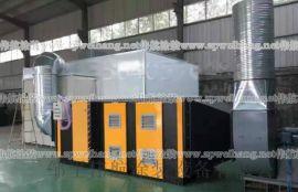 邹平伟航新款UV光氧净化设备喷淋塔活性炭柜高温烤漆房移动伸缩房