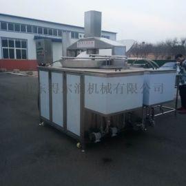 全自动豆泡油炸机  自动控温油炸锅  自动油炸线
