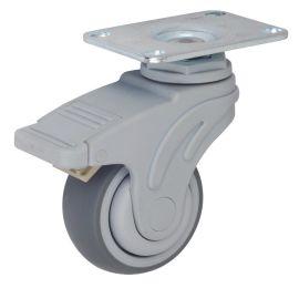 兄弟脚轮3寸全塑平底活动医疗轮