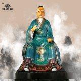 神医华佗神像高清细图 药王爷塑像 医祖扁鹊神像