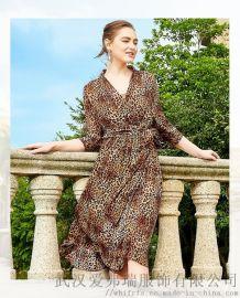 恩迪丝2020早春套头五分袖拼接裙子开服装店拿货