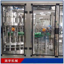 含气饮料生产线 小瓶可乐玻璃瓶灌装设备