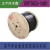 太平洋品牌 GYFTA53-16B1單模光纜 16芯 光纖線 非金屬鎧裝光纜