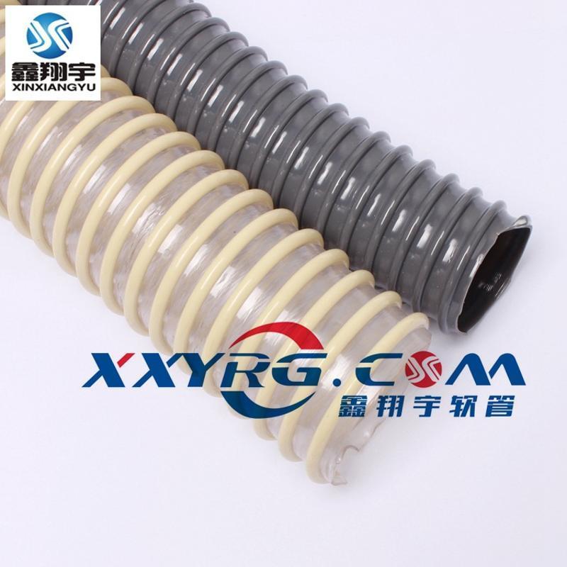 PVC螺旋管/缠绕管/龙骨增强软管/排水排污耐酸碱塑料软管25mm