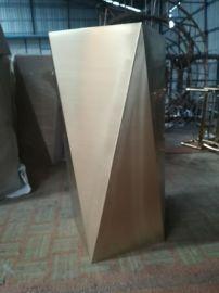 江苏园林花盆定制不锈钢多边形花盆装饰不锈钢花箱厂家