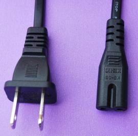 美式二插8字尾UL电源线 美规纯铜芯电源线 UL标准电源线