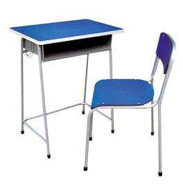 多层胶合板铁架学生课桌椅