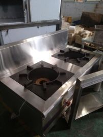 上海厨房设备厂直销生产商用不锈钢双头矮汤炉