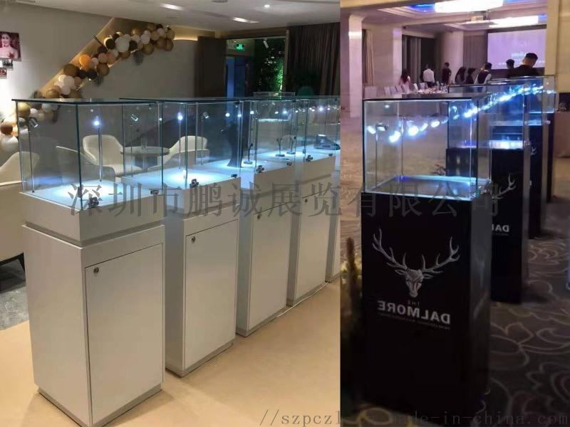 深圳市珠寶展櫃租賃_玻璃罩展示櫃出租公司