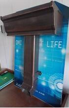 厂家供应青岛胶州别墅用蒂美k型6英寸屋檐排水檐沟,成品天沟,配件齐全、安装规范
