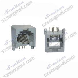 (厂家直销)RJ45-8P8C网络插座 环保网络插座 PCB网络插座
